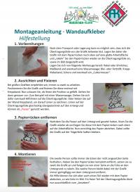Montageanleitung Wandaufkleber